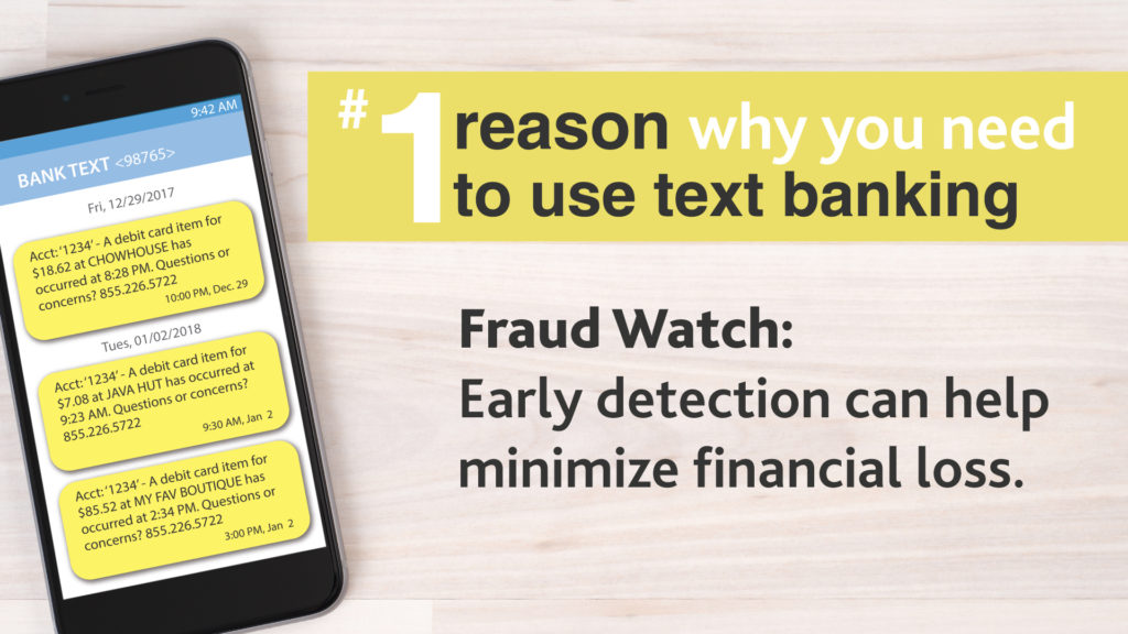 Phone and text banking graphic