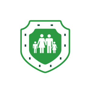 Shield with family
