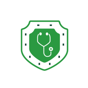 Shield with stethoscope